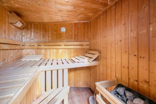 Ansicht der Sauna