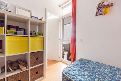 Eines von zwei Schlafzimmern