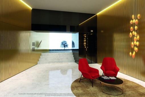 Eleganter Eingangsbereich mit Sitzecke
