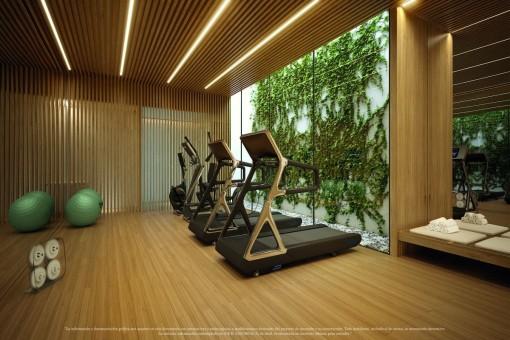 Fitnessraum und Wellnessbereich