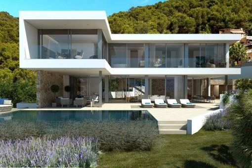 Moderne Neubau-Meerblickvilla in Port Andratx