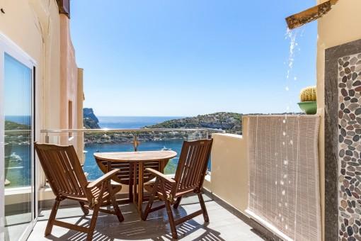 Modernes Design-Apartment in Puerto Andratx mit fantastischem Meerblick