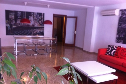 Möblierte Wohnung in der Nähe vom Corte Inglés in der Avenida Alexandre Rosselló
