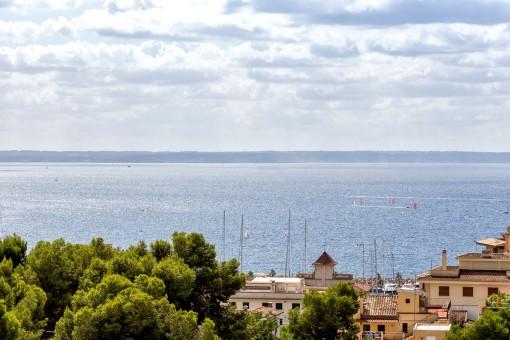 3 Schlafzimmer Wohnung mit herrlichem Meerblick in kleiner Wohnanlage in San Augustin (Palma)