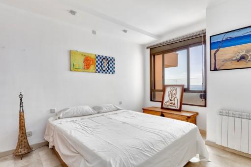 Doppelschlafzimmer mit Heizung