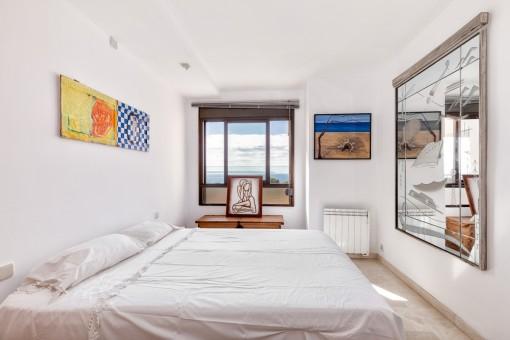 Eines von drei Schlafzimmern