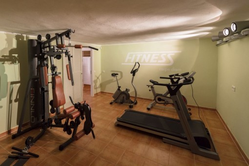 Geräumiger Fitnessraum