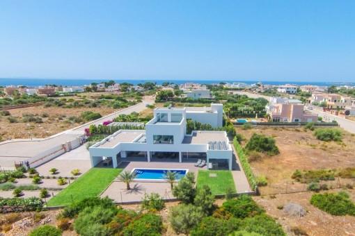 Moderne Villa in einer Sackgasse, nur wenige Minuten vom Strand Es Trenc entfernt