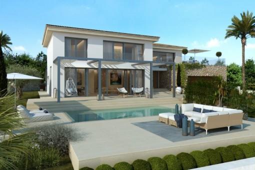 Moderne Neubau-Luxusvilla in hervorragender Lage in Santa Ponsa