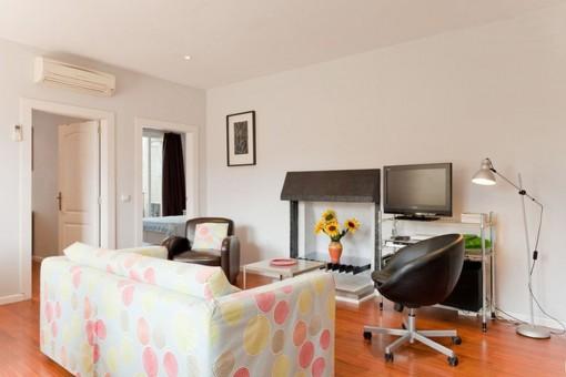 Das Apartment bietet eine Wohnfläche von 82 qm