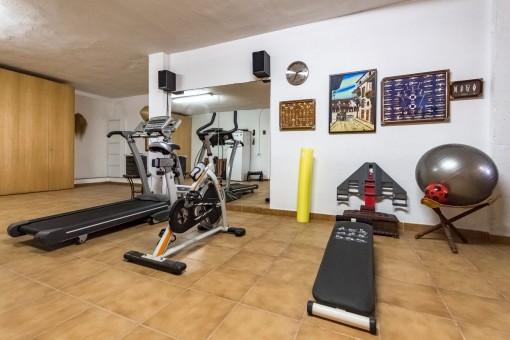 Privater Fitnessraum