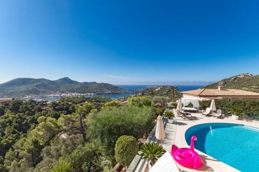 Exklusive Villa mit fantastischen Meerblick in Puerto de Andratx
