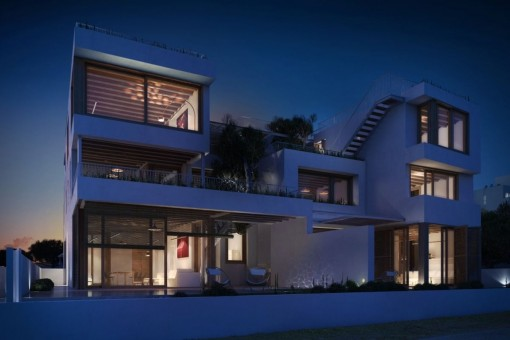 Moderne Designer-Villa direkt am Meer unterteilt in 4 Luxuswohneinheiten