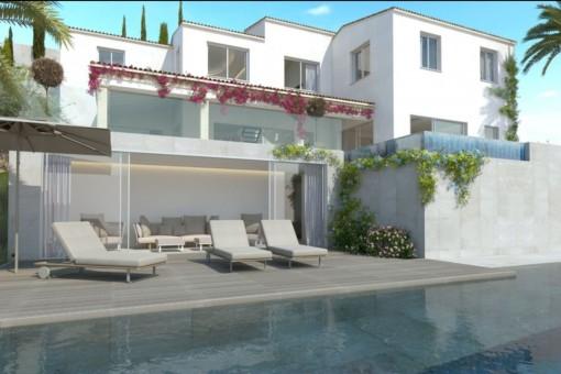 Fantastische Terrasse mit Loungebereich