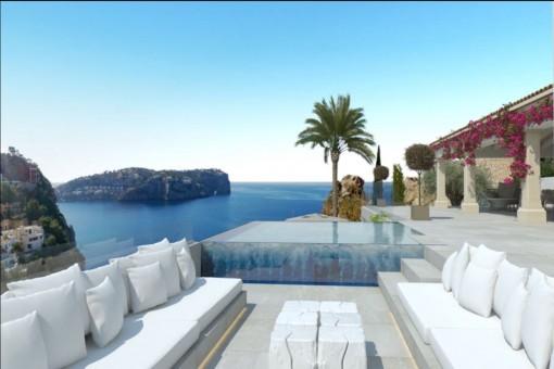 Geräumige Luxusvilla mit herrlichem Meerblick in Port d'Andratx
