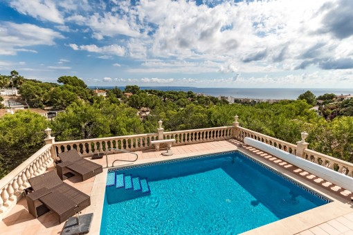 Haus mit tollem Meerblick in Costa d'en Blanes