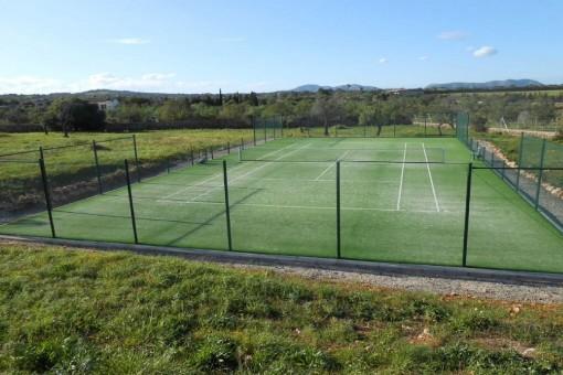 Fantastischer Tennisplatz