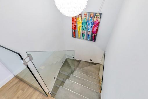 Treppenaufgang der Villa