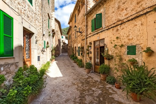 Charmante Straßen von Valldemossa