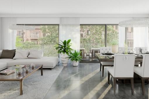 Neues Luxuspenthouse in Strandnähe mit großer Dachterrasse
