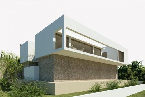 Grundstück mit Baugenehmigung und Projekt in Font de Sa Cala