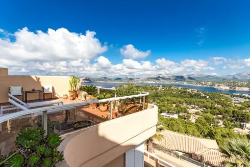 Panorama Meerblick-Wohnung in Nova Santa Ponsa