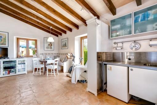 Kleine Küche im Gästehaus