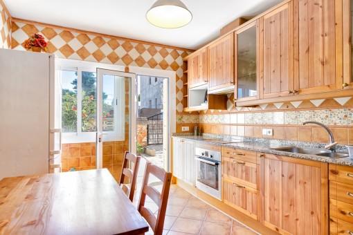 Terrassenzugang von der Küche aus