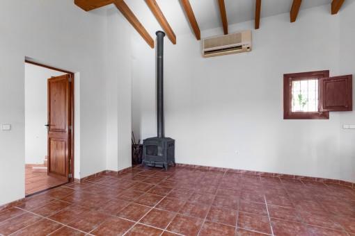 Kamin im Gästehaus