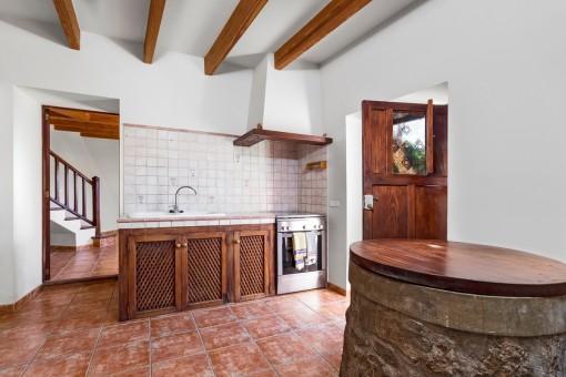 Rustikales Küche im Gästehaus
