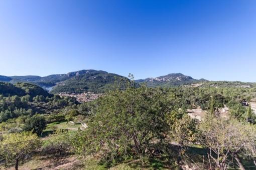 Wundervoller Blick auf das Tramuntana Gebirge