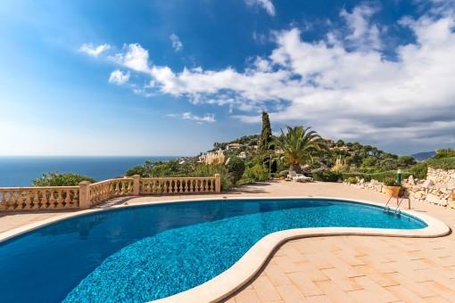 Barrierefreies Apartment mit schönem Meerblick in Puerto de Andratx