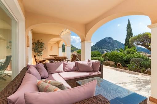 Fantasticher Loungebereich auf der Terrasse