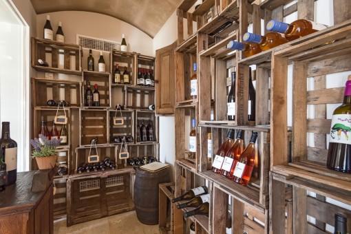 Genießen Sie ein Glas Wein in Ihrem eigenen Weinkeller