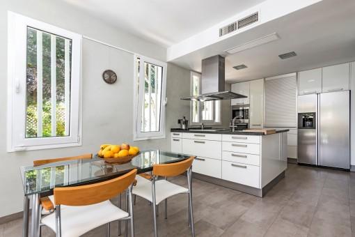 Kleiner Essbereich in der Küche