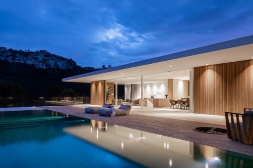 Wunderschöne, minimalistische Neubauvilla in Son Vida
