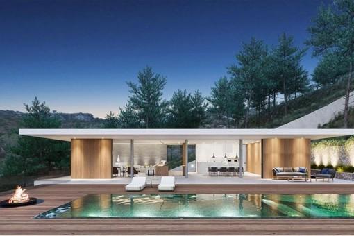 Wunderschöne, minimalistische Neubauvilla in Son Vida (Fertigstellung Dez. 2018)