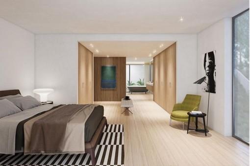 Alternative Ansicht des noblen Schlafzimmers