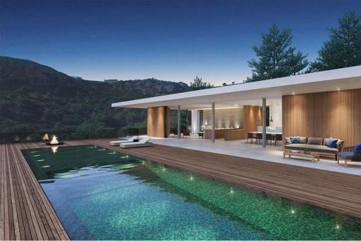 Die Terrasse bietet einen wundervollen Ausblick auf die Umgebung