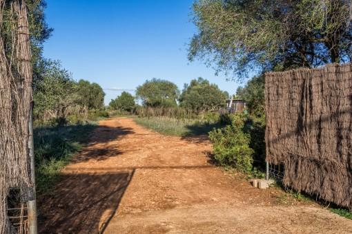 Eingang auf das Grundstück
