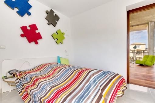 Ein weiteres Doppelschlafzimmer im Obergeschoss