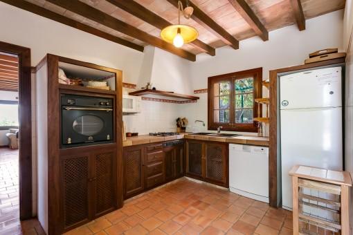 Authentische Küche im Landhausstil