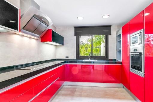 Futuristische, minimalistische Küche