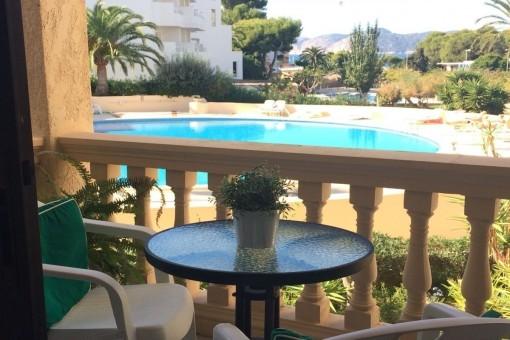 Möblierte Wohnung mit Meerblick in Santa Ponsa