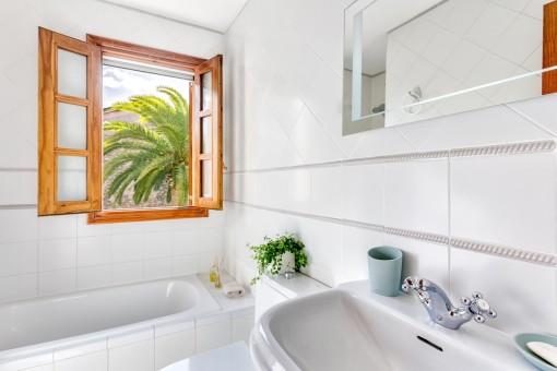 Alle Badezimmer verfügen über Tageslicht