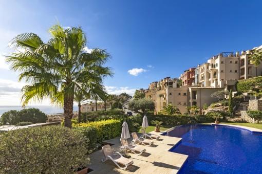 Traumhaft schönes Apartment mit Meerblick in Cala Llamp nahe Puerto Andratx