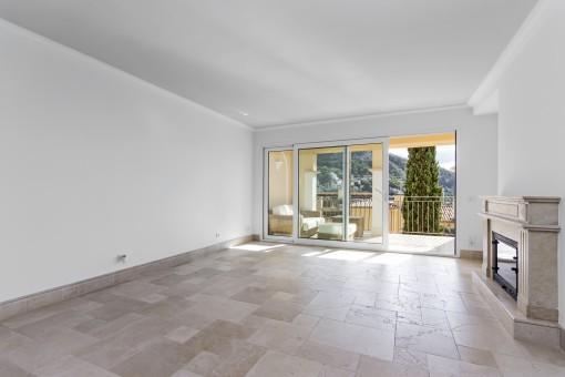 Die Wohnung bietet Fußbodenheizung