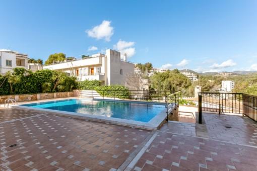 Moderne Wohnung in luxuriöser Anlage mit Pool in Bonanova, Palma
