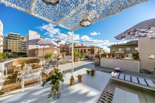 Wohnung mit toller Dachterrasse in Santa Catalina,...