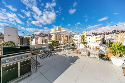 Wohnung mit toller Dachterrasse in Santa Catalina, Palma